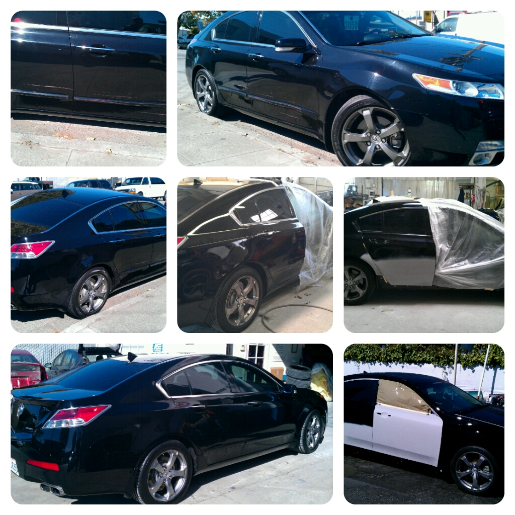 Fixing Dented Doors On 2010 Acura TL » Five Star Auto Body